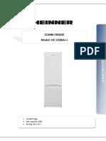 Combina frigorifica A++ Heinner 286 litri