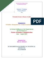 Potential of Micro Finance Of J&K