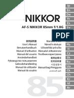Manual Lente Nikon 80 mm