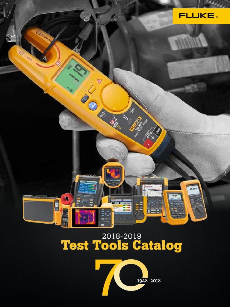 Test  Kit Fluke lead TL224 Insulated Probe Spring Load Piercing Needle+Acc case