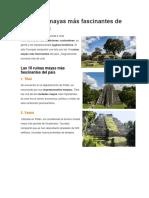 10 Ruinas Mayas Más Fascinantes de Guatemala