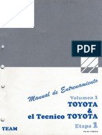 Manual Entrenamiento Tecnico Toyota Descripcion Historia Servicio