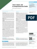 Überlastungssyndrome in Sport- und Arbeitsmedizin. Eine komparatistische Studie