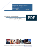 Official Audit Report of Bristol County Sheriff's Office