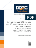 Working Paper Measuring BEPS and Its Countermeasures in Indonesia a Preliminary Research Guide