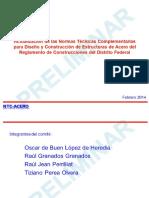Normas Tecnicas Complementarias Acero Abril 2014