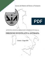 Relazione Semestrale DIA - I Semestre 2018