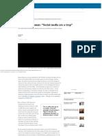 "Interview Zygmunt Bauman ""Social media are a trap""  In English  EL PAÍS.pdf"