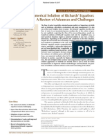 Numerical Solution of Richards' Equation a Review of Advances and Challenges