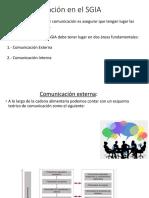 Comunicación en el SGIA