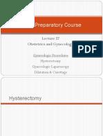 57 Lecture Gynecologic Procedures