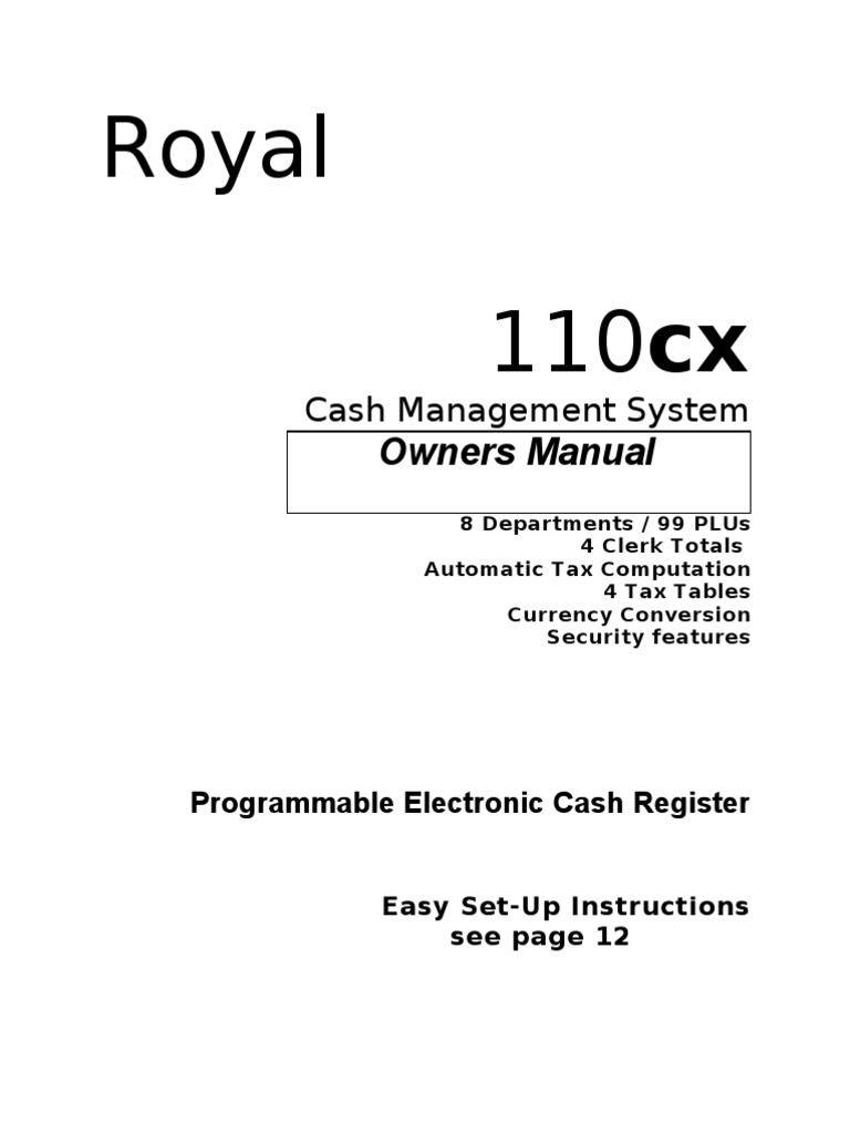 Instruction Manual 110cx ENGLISH | Value Added Tax | Electromagnetic  Interference