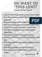 Lent Fasting Pope Francis