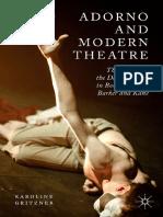 Gritzner, Karoline - Adorno and Modern Theatre (2015, Palgrave Macmillan)