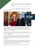 25-01-2019 Presenta Claudia Pavlovich Fortalezas de La Megarregion Ante Marcelo Ebrad - TV Pacifico
