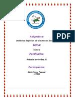Tarea 3 de Didactica Especial de Las Ciencias Sociales Maria Nuñez