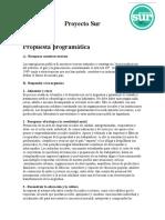 Proyecto Sur - Propuesta programática