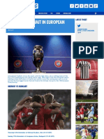 High Stakes in European Play-Offs - Ashley Cox for Kitbag