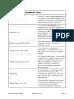 4 Project Integration Management Terms
