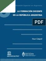 Formación Docente en Argentina