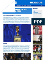 International Breakout - FIFA World Cup Qualifiers - Ashley Cox for Kitbag