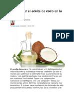Cómo Usar El Aceite de Coco en La Cara