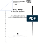 Applications of Matrix Algebra to Static Electrical Networks