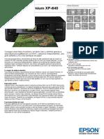 Expression Premium XP 640 Datasheet