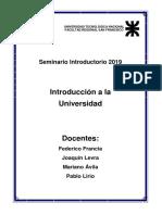 Introducción a La Universidad 2019