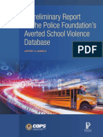 A Preliminary Report on the Police Foundation's Averted School Violence Database