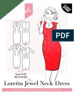 Loretta Jewel Neck Dress