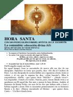 La Comunión, Educación Divina (63) HORA SANTA Con San Pedro Julián Eymard.