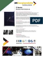 MÜNCHEN SOLAR MSP250SS-48 · 250W 60V · 96-cells-poly ·
