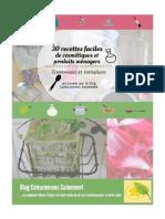 Dossier30 Recettes Cosmétiques Produits Ménagers Consommons Sainement
