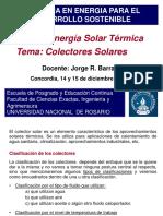 3 Colectores Solares - UNR 2018