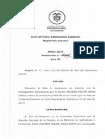 Andrés Felipe Arias seguirá preso, Corte Suprema de Justicia no revisará su condena