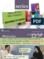 Grammar Adverbs of Manner