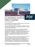 Los documentos secretos de la base china en Argentina