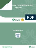 BIOSSEGURANÇA E GERENCIAMENTO DE RESÍDUO