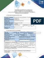 Guía de Actividades y Rúbrica de Evaluación - Presaberes - Sentido de La Investigación