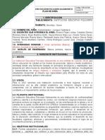 Formato Plan de Area Lenguaje Definitivo 2017