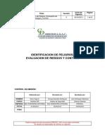 PROC-01 IDENTIFICACION DE PELIGROS Y EVALUACION DE RIESGOS Y.pdf
