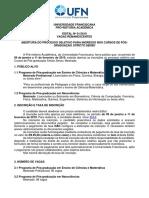Edital 01-2019 Vagas Remanescentes