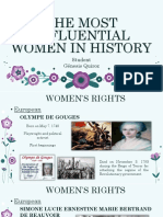 The Most Influental Women in History (New) 2