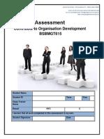 Assessment BSBMGT615 Contribute to Organizational Development (1) (1)