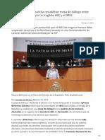 10/Febrero/2019 Sylvana Beltrones solicita restablecer mesa de diálogo entre familias afectadas por la tragedia ABC y