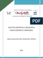 Plan de Estudio Electiva - La Salle 2010