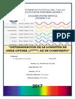 Informe 1 Determinación de La Longitud de Onda Optima