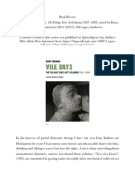 Review of Gary Indiana's book Vile Days