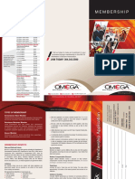 OMEGA - Membership Brochure 2019